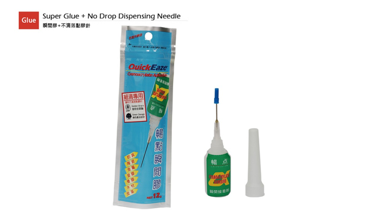 QuickEaze 12g Instant Glue + No Drop Dispensing Needle