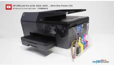HP OfficeJet Pro 6230, 6820, 6830 Modify to CISS Kits Set (Without Ink)