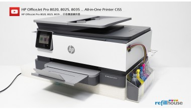 HP OfficeJet Pro 8020, 8025, 8035 Modify to CISS Kits Set (Without Ink)