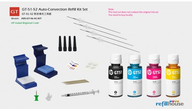 HP GT-51-52 Ink Bottle / HP 46 Auto Convection Refill Kits Set