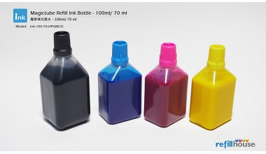 Magictube Refill Ink Bottle - 70ml*3, 100ml*1 - Pigment Inks - 4 Color