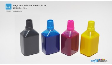 Magictube Refill Ink Bottle - 70ml - Pigment Inks - 4 Color