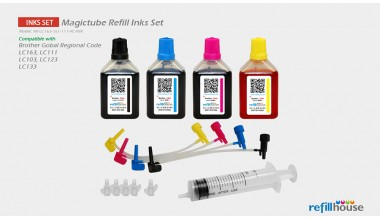 Brother LC163, LC161, LC111(JP)  Magictube Refill Inks Set