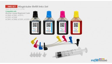 Brother LC263, LC261, LC211 (JP)  Magictube Refill Inks Set