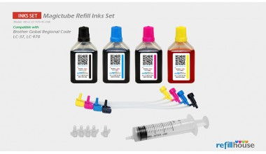 Brother LC37, LC970 Magictube Refill Inks Set