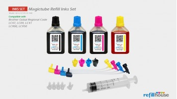 Brother LC47, LC09 (JP) Magictube Refill Inks Set