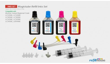 Brother LC535XL, LC539XL Magictube Refill Inks Set