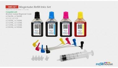Brother LC567XL, LC565XL, LC117 (JP) Magictube Refill Inks Set