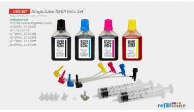 Brother LC569XL, LC565XL, LC119 (JP) Magictube Refill Inks Set