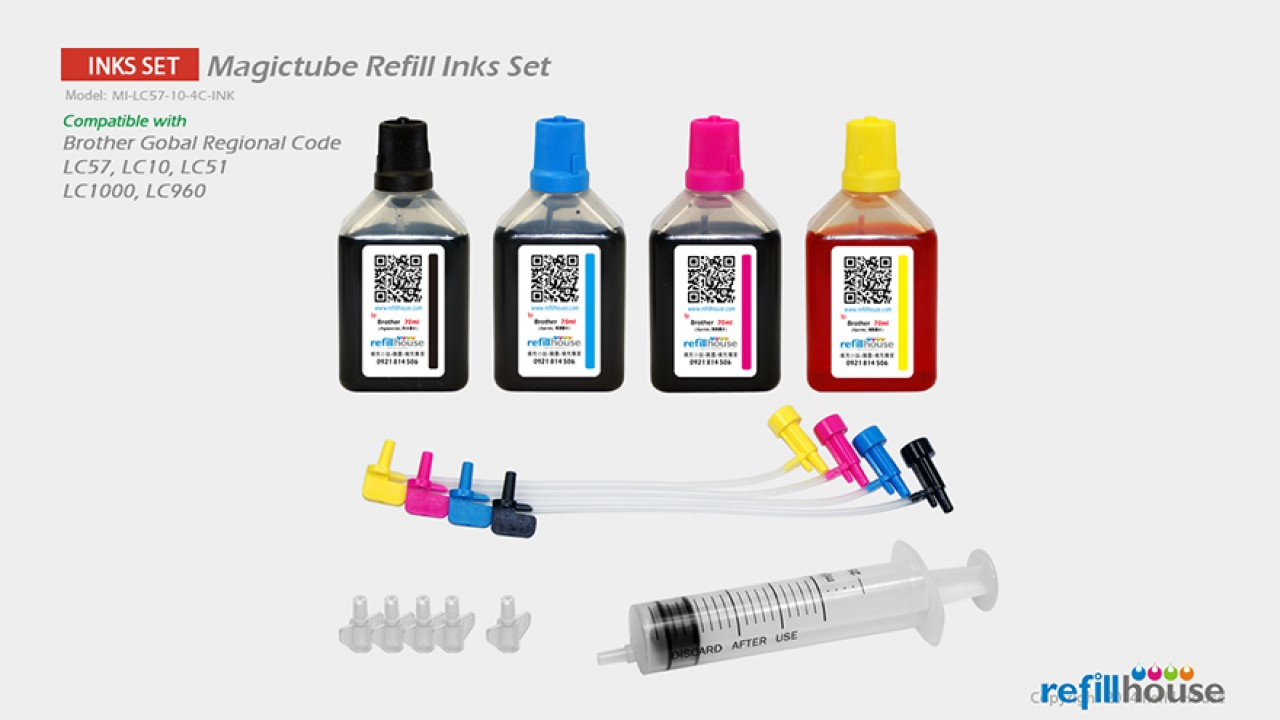 Brother LC57, LC10 (JP) Magictube Refill Inks Set