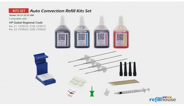HP 21/21XL, 22/22XL Auto Convection Refill Inks Set