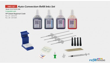 HP 27, 28  Auto Convection Refill Inks Set