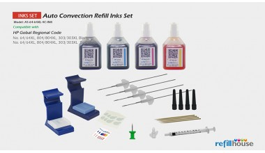HP 64/64XL 804, 303 Auto Convection Refill Inks Set