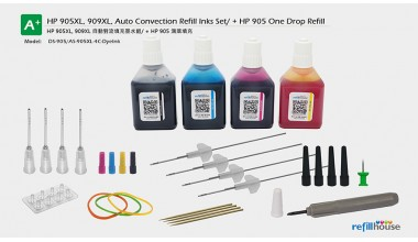 HP 902, 903, 904, 905/+XL Auto Convection Refill Inks Set + One Drop Refill /D