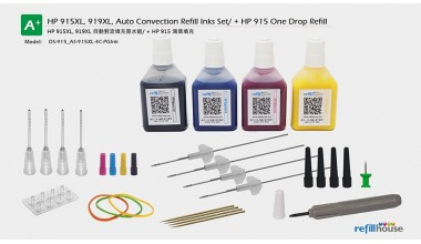 HP 910, 912, 914, 915/+XL Auto Convection Refill Inks Set + One Drop Refill /P