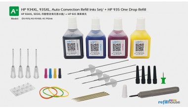 HP 934, 935XL, Auto Convection Refill Inks Set + HP 935 One Drop Refill / P