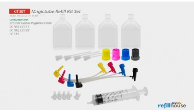 Brother LC163, LC161,  LC110(JP)  Magictube Refill Kits Set