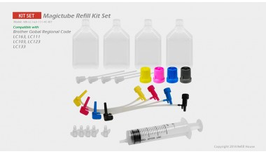 Brother LC163, LC161, LC111(JP)  Magictube Refill Kits Set