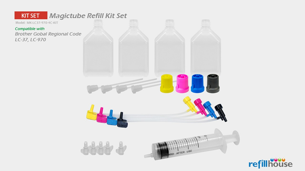 Brother LC37, LC970 Magictube Refill Kits Set