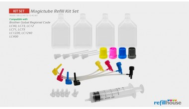 Brother LC40, LC73,  LC12(JP) Magictube Refill Kits Set