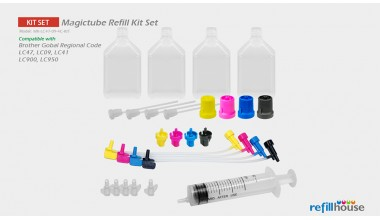 Brother LC47, LC09 (JP) Magictube Refill Kits Set