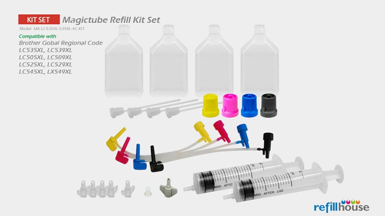 Brother LC535XL, LC539XL Magictube Refill Kits Set