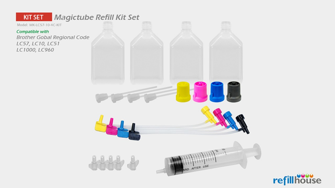 Brother LC57, LC10 (JP) Magictube Refill Kits Set