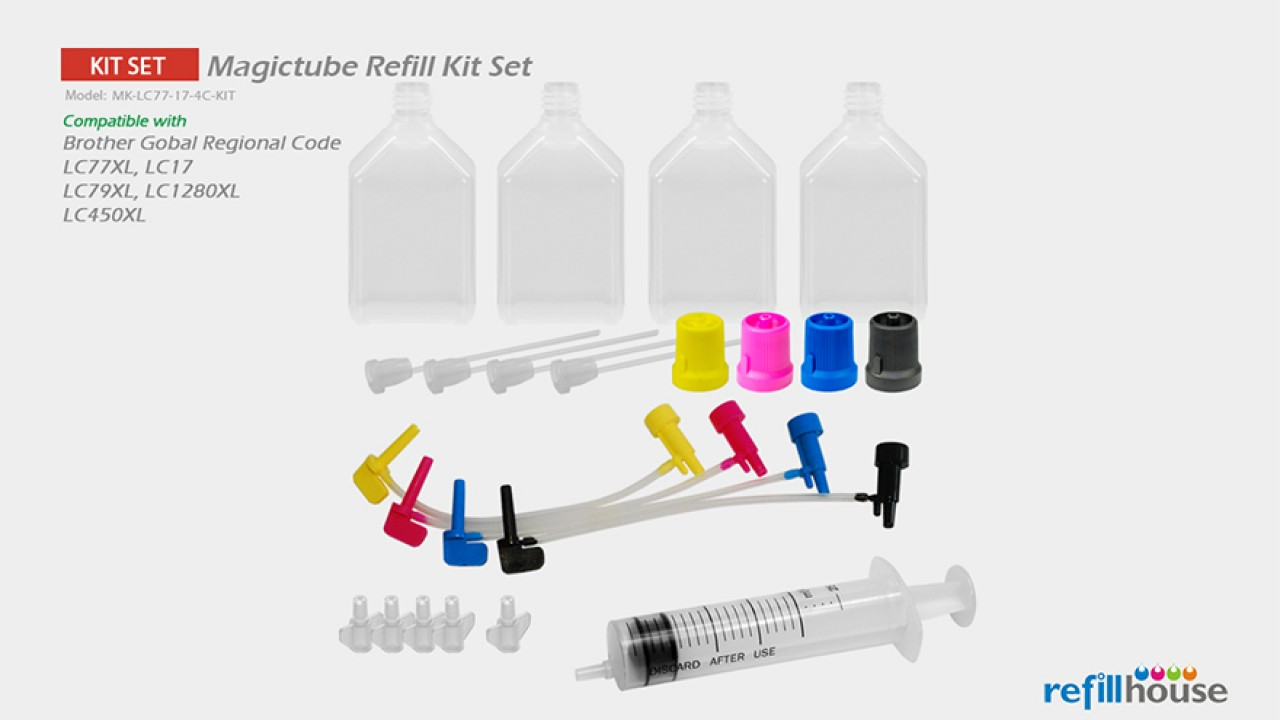 Brother LC77XL, LC17(JP) Magictube Refill Kits Set