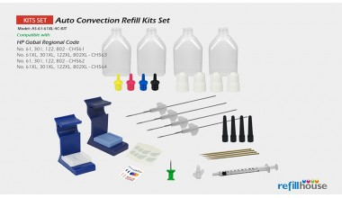 HP  61, 61XL Auto Convection Refill Kits Set
