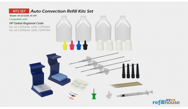 HP 62, 62XL Auto Convection Refill Kits Set
