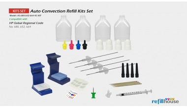 HP 680, 652, 664/664XL Auto Convection Refill Kits Set