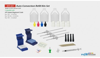 HP 901, 901XL Auto Convection Refill Kits Set
