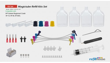 HP 18, 88, 88XL Magictube Refill Kits /+ Printerhead Clear Kit Set