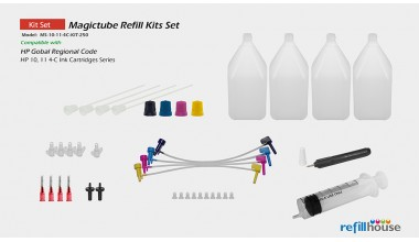 HP 10, 11 4C/250 Magictube Refill Kits Set