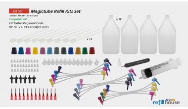 HP 70 12C/250 Magictube Refill Kits Set
