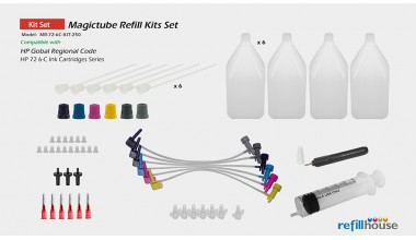 HP 72 6C/250 Magictube Refill Kits Set