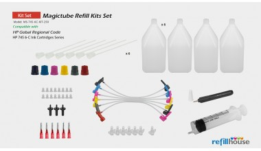 HP 745 6C/250 Magictube Refill Kits Set